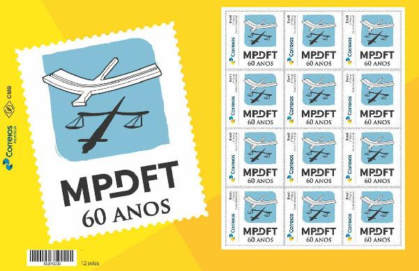 selo 60 anos MPDFT corpo materia